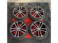 18' Genuine Volkswagen Golf Mk7 GTD Alloys + Tyres 5x112