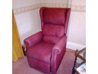 Used rise and recline chair