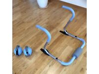 Ab Roller and Hand Weights