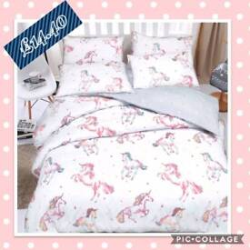 Pretty unicorn duvet set