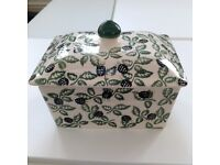 Emma Bridgewater very rare Blackberry butter dish with lid