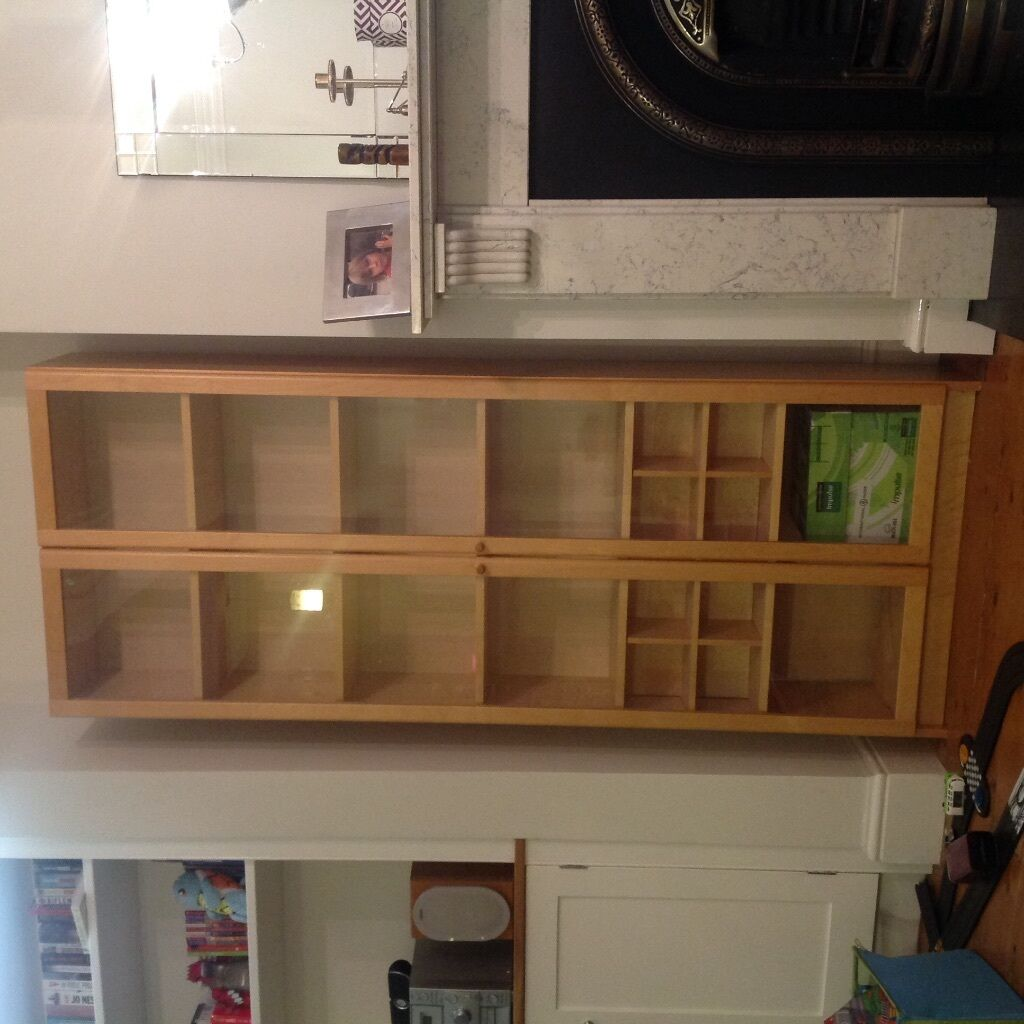 Ikea Billy Oxberg Bookcase With Glass Doors In