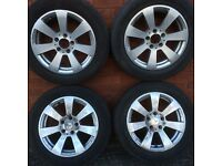 """Mercedes Benz C Class w204 w205 16 inch alloy wheel rims and tyres 205 55 16"""" C-Class A / B Class"""