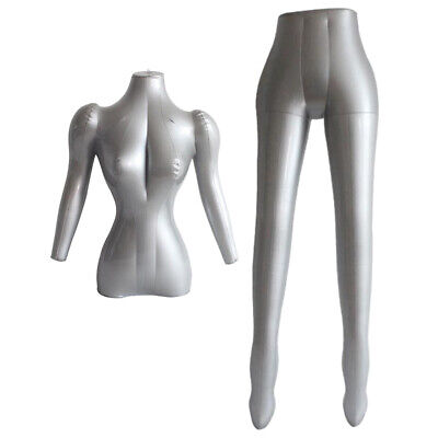 Inflatable Female Mannequin Form Pants Display Dummy Torso Clothes Models