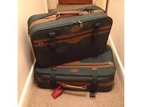 Green suitcases x 2 (one fits inside the other)