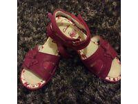Clarks girl sandals size 13.5