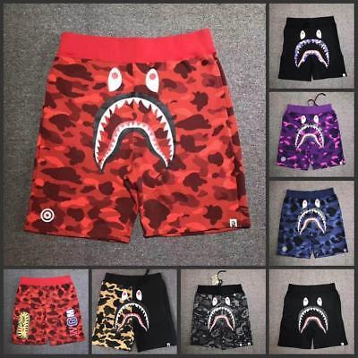 5 Colors 17SS A Bathing Ape Camo Shorts Shark Prints Cool Bape Shorts S-XXL