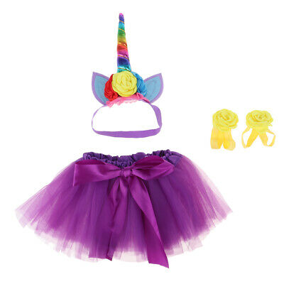Kleinkind Baby Mädchen Prinzessin Einhorn Tutu Rock Stirnband - Einhorn Kostüme Kleinkind