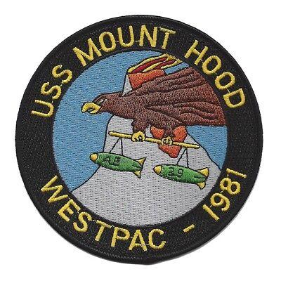 USS MOUNT HOOD AE-29 KILAUEA CLASS AMMUNITION SHIP MILITARY PATCH WESTPAC 1981