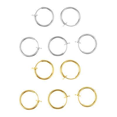 10 Stücke Nase Ring Piercing Schmuck für Frauen Piercing Clip auf Körper (Körper-schmuck Für Piercing)