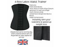 4 Row Waist Trainer Waist Cincher Girdle Shapewear Faja Slimming Compression Weight Loss