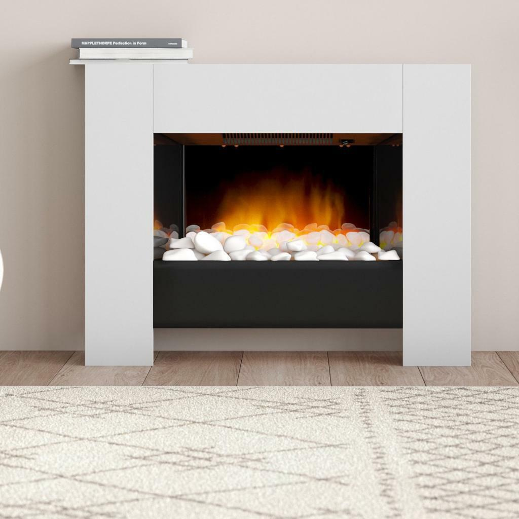Pleasant Dimplex Chesil Electric Fireplace Led Pebble Bed Gloss White 2000W Remote Controlled In North West London London Gumtree Home Interior And Landscaping Mentranervesignezvosmurscom
