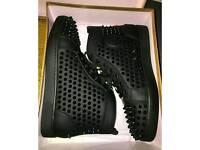 Mens Black Christian Louboutin Sneakers. UK Size 9.