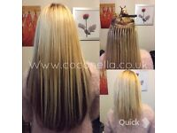 Russian Brazilian Indian virgin Remy micro nano rings hot fusion mobile hair extensions from £140