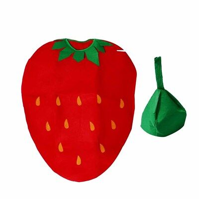 Strawberry Costume For Kids (Cute Kid Strawberry Suit for Children's Day Party Costume Fruit Fancy)