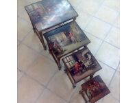 Antique French set of occasional tables