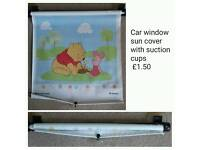 Car window sun cover blind with suction cups