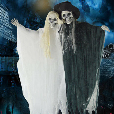 Animierte hängende Skeleton Braut Bräutigam Halloween Outdoor-Dekorationen
