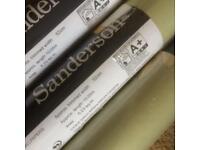 3 rolls of Sanderson wallpaper
