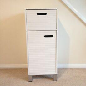 White Bathroom Storage Cabinet with Drawer