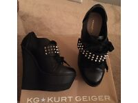 Black Kurt Geiger Wedges