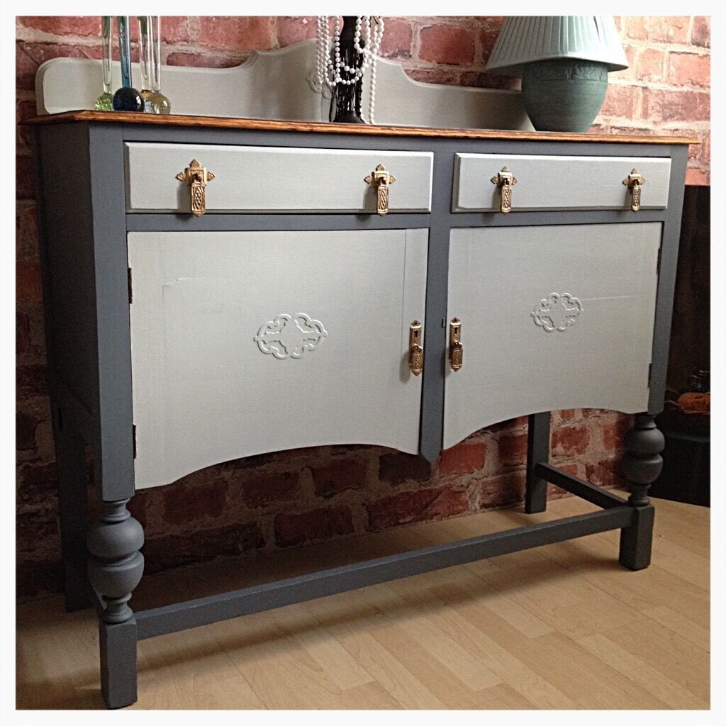 unique vintage shabby chic sideboard buffet cabinet hand painted in kingston london gumtree. Black Bedroom Furniture Sets. Home Design Ideas