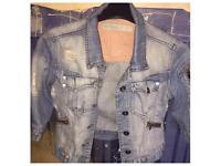 Ladies Denim Jean Jacket size 10 smoke free home