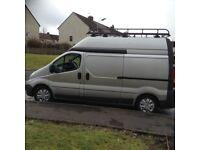 09 plate Renault Traffic LWB Van . High Roof