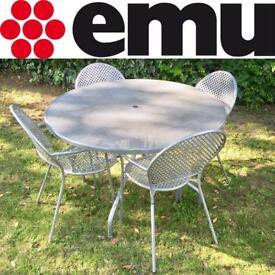 Emu Cambi Garden Table & 4 Sole Armchairs, RRP:£723 - Italian, Silver