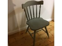 4 Annie Sloane grey dining chairs