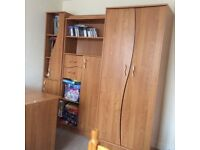 Wardrobe with desk and furniture