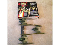 Star Wars Episode 1 Trade Federation Droid Starfighter (3 vehicles + grip) -with box - Didsbury area