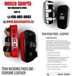 Thai Pads, Kicking Shields, Thai Kickboxing, Focus Pads, Mitts on Sale only @  Benza Sports