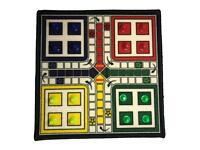 Ludo Boardgame Indoor & Outdoor Playing Fun With Dice And Shells