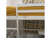High bed bunk bed with desk table bought this year