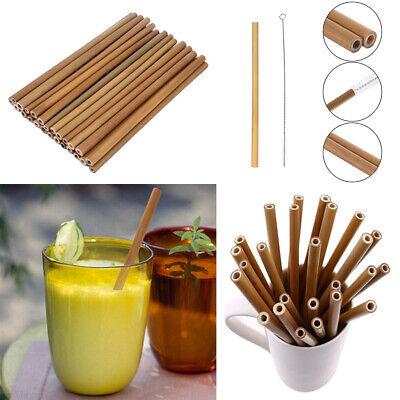 30x Nachhaltige Bambus Trinkhalme Bio Party Strohhalme DIY