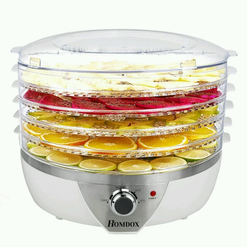 Homdox Food Dehydrator Fruit Dehydrater 5 Tier BPA FREE