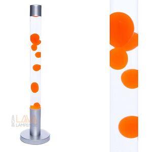 XXL Lavalampe groß 76cm Bodenleuchte orange - transparent Lavaleuchte Lampen