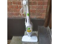 Morphy Richards steam cleaner for wooden floors. Hardly used. Other attachments for smaller jobs.