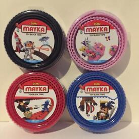 Bundle of 4 Zuru Mayka Toy Block Tape