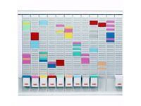 Nobo 12 Month T Card Board 32 Slot, Ideal for Orgainising staff Cost New £125 Bargain £17