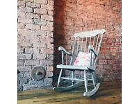 Vintage rocking chair - shabby chic style