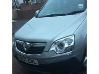 Silver Vauxhall 4x4 antara, alloy wheels, heated leather seats, 57 reg 2.0 litre diesel