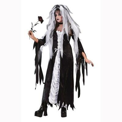 Halloween Costumes Bride Of Darkness (Bride of Darkness Gothic Gown Halloween Costume Womens Adult Size Sm/Med 2-8)