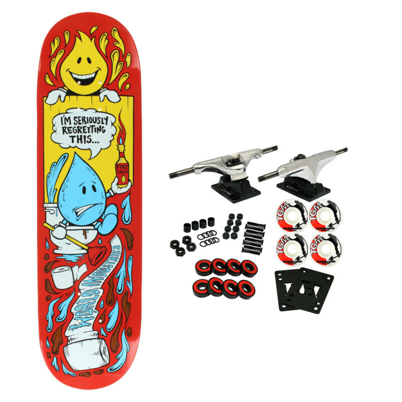 "World Industries Skateboard Complete Wet Willy Regret 8.3"""