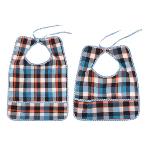 2pcs Cotton Dining Clothing Protectors Eating Bibs for Adult