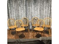 Set of Six Beautiful ERCOL Dining Chairs