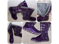 B.L.O.X. Women's Gorgeous Fur lined Purple Winter Snow Boots Size 5 New