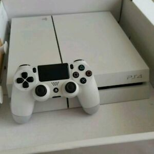 White PS4 2 tb hardrive two controllers