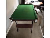 Fold away pool table good condition